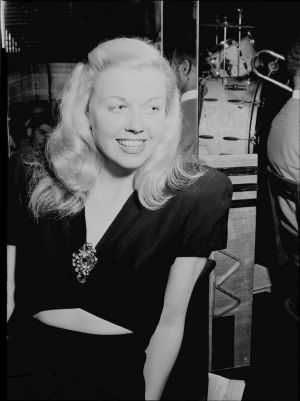Doris Day at the Aquarium Jazz Club in New York on July 1st, 1946. Photograph:  Courtesy William P. Gottlieb/Ira and Leonore S. Gershwin Fund Collection, Music Division, Library of Congress