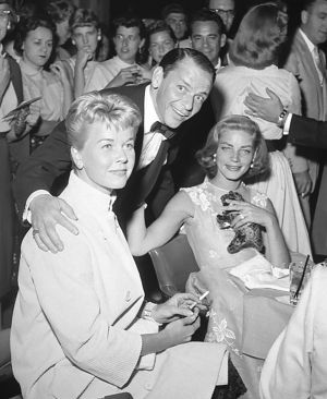 Doris Day, Frank Sinatra and Lauren Bacall at the Sands Hotel Las Vegas, in September, 1956. Photograph: Las Vegas News Bureau Archives via Getty Images