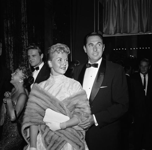 Doris Day with husband Marty Melcher at the film premiere of A Star Is Born featuring Judy Garland, in October, 1954. Photograph: Jay Scott/BIPs/Getty Images