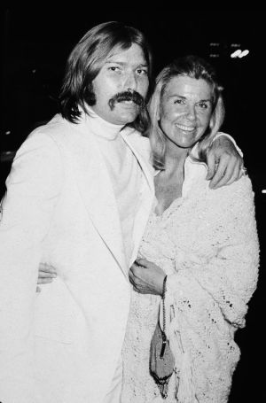 With her son, American rock producer and songwriter Terry Melcher (1942-2004),  in the early 1970s. Melcher also served as the executive producer of The Doris Day Show. Photograph: Hulton Archive/Getty Images