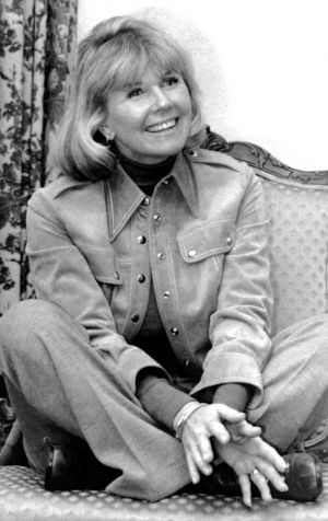 Answering  questions in New York, in January, 1976,  during an interview about Doris Day: Her Own Story, written by A.E. Hotchner. Photograph: AP