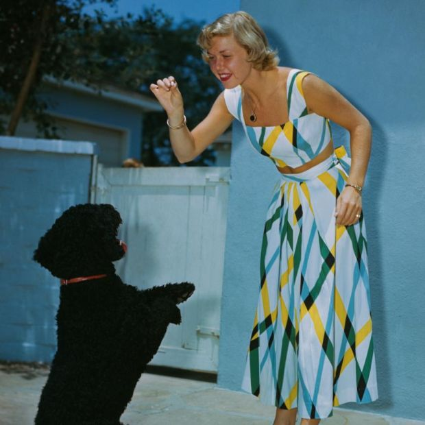 Doris Day: the late actor and singer playing with a dog around 1950. Photograph: Archive/Getty