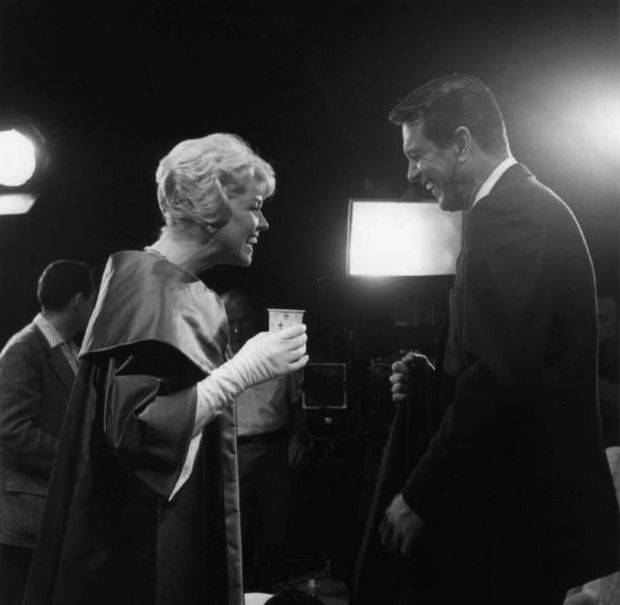 Doris Day: the late actor and singer with her friend and Pillow Talk costar Rock Hudson on set in 1959. Photograph: Richard C Miller/Donaldson/Getty