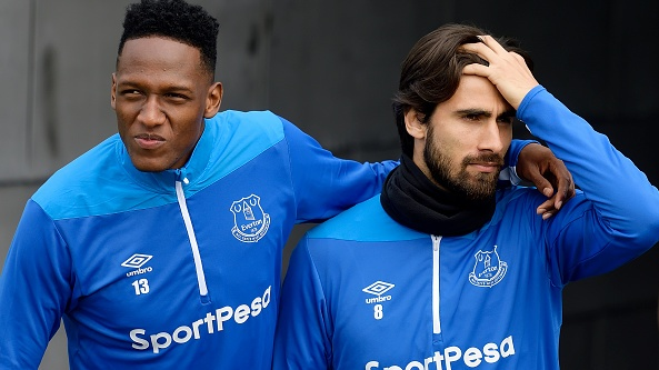 Yerry Mina and Andre Gomes joined Everton from Catalan giants Barcelona in a shock deal last summer. Photograph: Getty Images