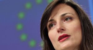 European digital commissioner Mariya Gabriel: 'European consumers are now comprehensively covered against bill shocks.' Photograph: Emmanuel Dunand/AFP/Getty