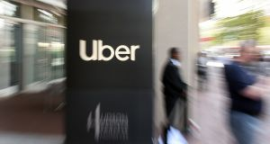 "Uber stock ""did not trade as well as we had hoped post-IPO"", chief executive Dara Khosrowshahi wrote in a memo to employees. Photograph: Josh Edelson/AFP/Getty Images"