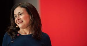 Sheryl Sandberg, chief operating officer of Facebook: The  company announced plans last year to add a further 5,000 jobs to its Irish operation in the coming years, with a move to a new headquarters in Ballsbridge, Dublin. Photograph: Lino Mirgeler/AFP/Getty Images