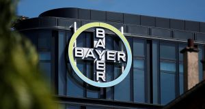 Shares in Bayer were down 6.8 per cent in early trade on Tuesday after a jury awarded more than $2 billion to a California couple in the largest US jury verdict against the company over allegations its Roundup weed killer causes cancer.  Photograph: Benoit Tessier/Reuters