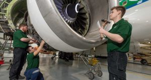 Aircraft maintenance and engineering apprenticeships are in strong demand. Photograph: Solas