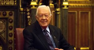 Former US president Jimmy Carter: recovering after surgery. Photograph: REUTERS/Neil Hall/File Photo