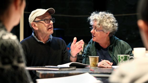 Druid writer: Tom Murphy and Garry Hynes at rehearsals in 2014. Photograph: Joe O'Shaughnessy