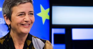 Margrethe Vestager, competition commissioner of the European Commission announced the investigation was under way. File photograph: Geert Vanden Wijngaert/Bloomberg