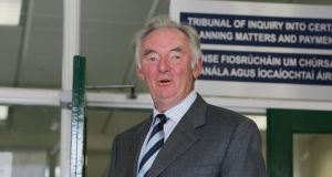 Padraig Flynn at the Mahon tribunal in 2006. Photograph: Cyril Byrne