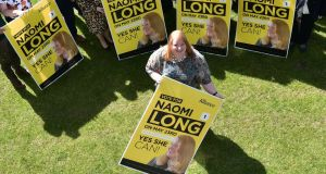 Alliance candidate Naomi Long during the party's manifesto launch for the European Election 2019 at CIYMS in Belfast on Tuesday. Photograph: Colm Lenaghan/Pacemaker