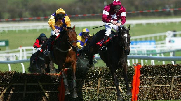 War of Attrition (right) was Michael O'Leary's first Cheltenham runner in 2004. Photograph: Phil Cole/Getty Images
