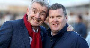 Gordon Elliott is keen to  acknowledge Michael O'Leary's role in his remarkable rise to prominence over the last dozen years. Photograph: Bryan Keane/Inpho