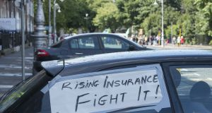 Motor insurance premiums soared more than 70 per cent over three years before they peaked in 2016, a period when the industry was largely loss-making in the Republic. Photograph: Dave Meehan/The Irish Times