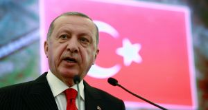 Turkish president Recep Tayyip Erdogan who spoke of 'increasing attempts to violate our rights in the eastern Mediterranean and Aegean', suggesting a wish to assert Turkish rights in Greece as well as in Cyprus