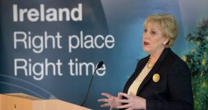 Minister for Business, Enterprise and Innovation, Heather Humphreys, is leading the mission alongside Minister of State, Pat Breen. Photograph: Dara Mac Donaill