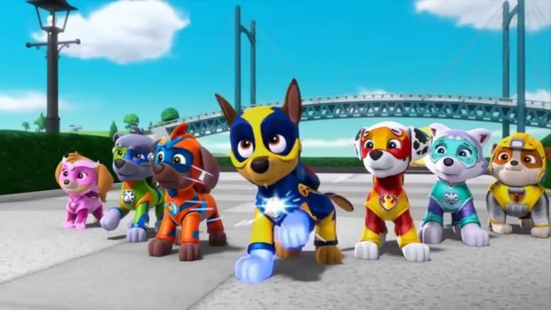 Paw Patrol Mighty Pups Cartoon Canines In Fascistic Mission