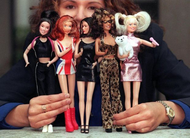 The Spice Girls were the first act to lay the ground-work for capitalist-driven pop merchandising. Photograph: Johnny Eggitt/AFP/Getty Images
