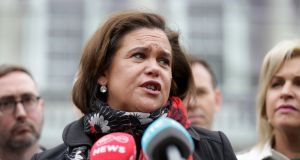 Sinn Féin leader Mary Lou McDonald criticised the Taoiseach after it emerged the European Commission was investigating the State's insurance industry. Photograph: Laura Hutton/The Irish Times.