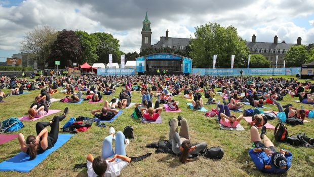 The main stage at Wellfest 2019 at the gardens at Royal Hospital Kilmainham.