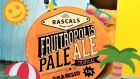 Another newbie from Rascals is its hazy Fruitropolis pale ale