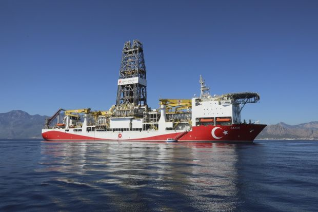 Fatih is Turkey's first drilling vessel and was built in 2011. Photograph: Celal Gunes/Anadolu Agency/Getty