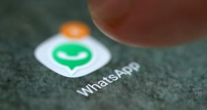 Pegasus spyware can be uploaded via WhatsApp  hack and can spy on calls and chats, and remotely control the device's microphone and camera. Photograph: Reuters/Dado Ruvic/File