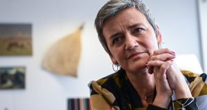 Almost two years after Commission officials raided Insurance Ireland's office in Dublin, the outgoing EU competition commissioner, Margrethe Vestager, announced on Tuesday that she has initiated a formal investigation into whether the organisation is operating a cartel by restricting access to a claims data base it manages. Photograph: Emmanuel Dunand/AFP/Getty Images