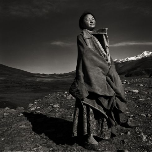 "The Tibetan Nomads project is a collaboration between Chinese fashion designer Ma Ke (who created all the outfits) and Zhou Mi. All images were photographed in China's Sichuan Province in December 2007. Mi says ""As a part of the core concept, we tried to avoid showing the typical Tibetan environment, cultural and religious symbols, and just focused on anonymous landscape and people."" The 'Earth' exhibition opens May 17th and will run until June 15th at the Kamera 8 gallery at 5 Rowe Street Lr, Wexford. Photographs: Zhou Mi"