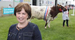 DUP's Diane Dodds at the Balmoral Show. Photograph: Brian Little/PressEye
