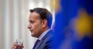 Taoiseach Leo Varadkar last week at press conference on broadband plan. Photograph: Tom Honan