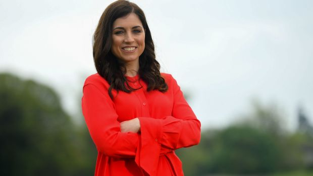 RTÉ The Sunday Game presenter, Joanne Cantwell. Photograph: Ramsey Cardy/Sportsfile