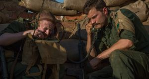 Jamie Dornan (right) in the  war drama, The Siege of Jadotville.