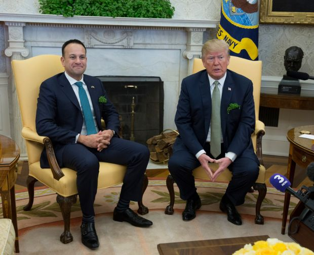 Donald Trump has previously hosted Taoiseach Leo Varadkar at the White House twice in recent years on St Patrick's Day visits. Photograph: Chris Kleponis-Pool/Getty