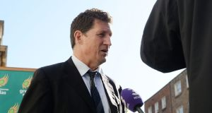 Green Party leader  Eamon Ryan said: 'We want certain things to be in public ownership and social housing should be in public ownership for use forever and a day for the people of Ireland.' Photograph: Alan Betson / The Irish Times