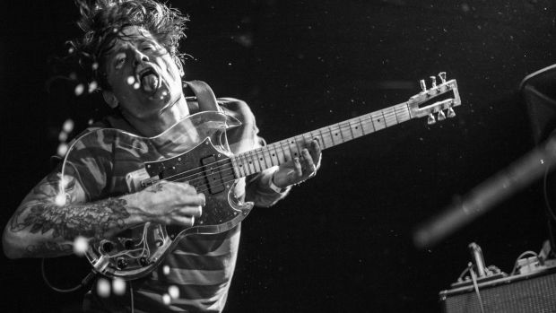 The guitarist of Oh Sees, who are playing in Belfast. Photograph: Thomas Girard