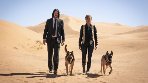 Keanue Reeves and Halle Berry in John Wick: Chapter 3 – Parabellum