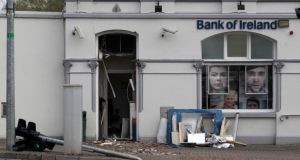 Scene of a double ATM robbery on Main Street, Kells, Co Meath. Photograph: Colin Keegan/Collins
