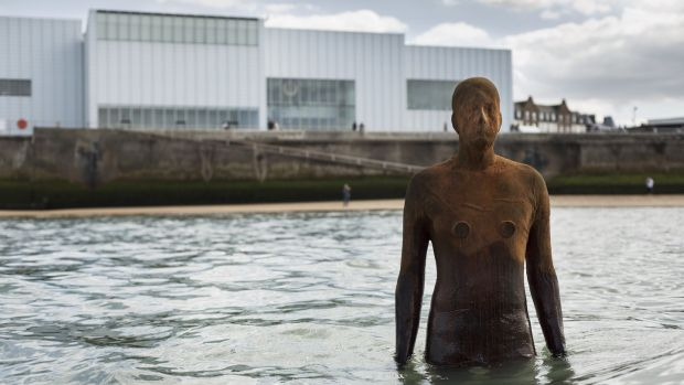 Anthony Gormley's Another Time installation at Margate