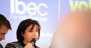 Anne Rabbitte  at an Ibec-hosted debate in the  Clayton Hotel, Galway earlier this month. Photograph: Michael Dillon