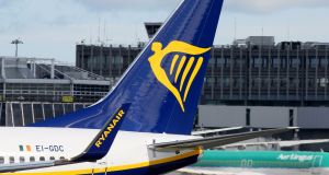 Ryanair:  Among a number of airlines whose stocks rose on the back of the Brexit extension. Photograph: Paul Faith/AFP/Getty