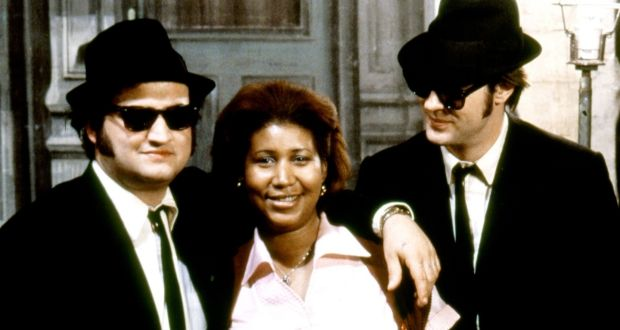 John Belushi, Aretha Franklin and Dan Aykroyd in The Blues Brothers (1980)