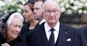 Belgium's former King Albert II  and his wife Queen Paola   in Luxembourg. Photograph: Julien Warnand/EPA