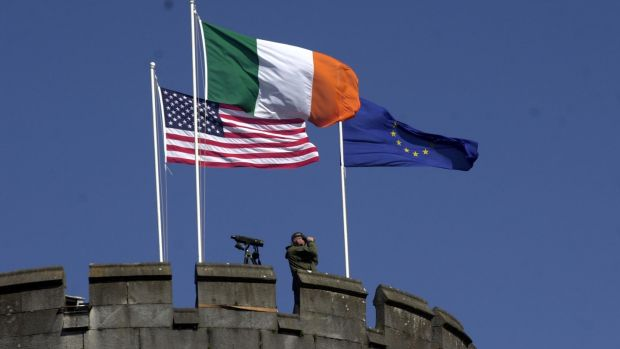 US secret sevice at Dromoland Castle the EU/US summit in 2004. Photograph: Bryan O'Brien