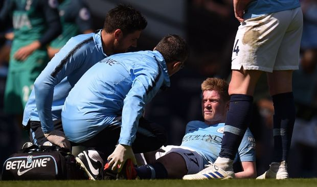 De Bruyne has suffered a number of serious injuries this season. Photograph: Oli Scarff/AFP/Getty