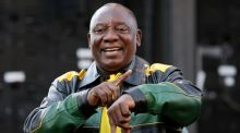 South African president Cyril Ramaphosa: 'We'll be seeking to get people, men and women, who have great competence and capabilities to serve the needs of the people of South Africa.' Photograph: Mike Hutchings/Reuters