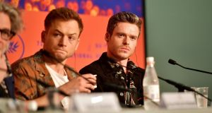 Taron Egerton and Richard Madden attend the Rocketman press conference during the 72nd annual Cannes Film Festival on May 17th, 2019 in Cannes, France. Photograph: Matt Winkelmeyer/Getty Images